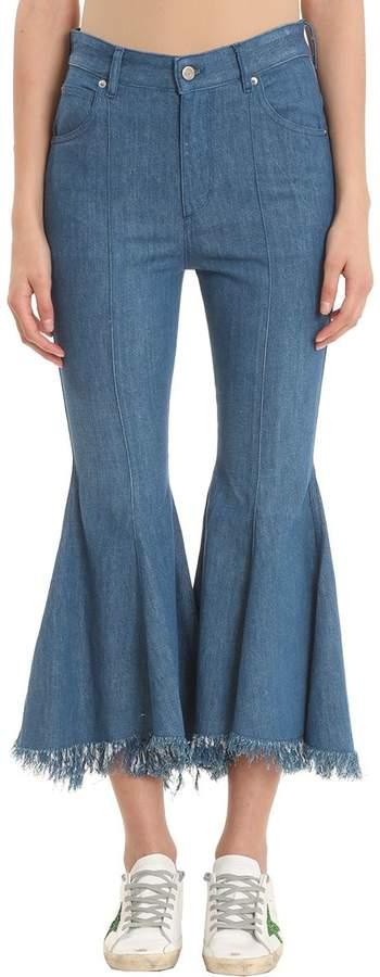 Golden Goose Lycia Blue Cotton Jeans