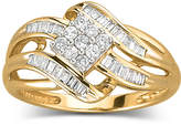 JCPenney FINE JEWELRY 1/3 CT. T.W. Diamond 10K Gold Ring