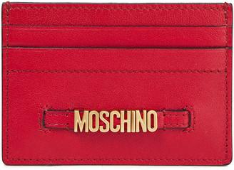 Moschino Logo-embellished Leather Cardholder
