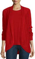 Eileen Fisher Fine Tencel® Alpaca Oval Cardigan, Poppy, Petite