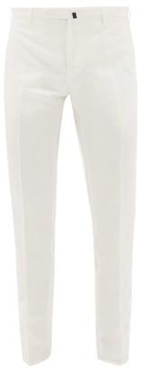 Incotex Slim-leg Linen Chino Trousers - Mens - White