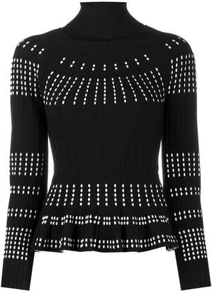Antonino Valenti Contrast Stitch Knitted Top