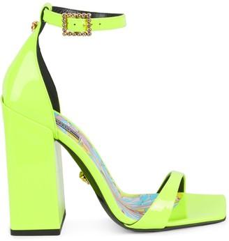 Versace Patent Leather Block-Heel Sandals