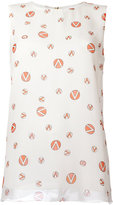 Giambattista Valli logo print tank top - women - Silk - 40