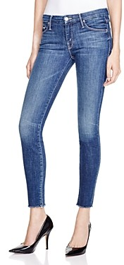 Mother The Looker Ankle Fray Skinny Jeans in Girl Crush