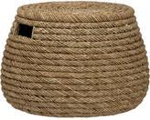 Crate & Barrel Roll Weave Storage Basket-Ottoman