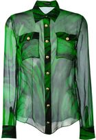Balmain printed sheer shirt