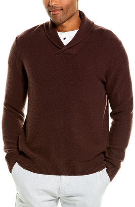 Vince Cashmere Shawl Collar Sweater