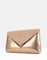 betts Evaline Rose Gold Clutch Bag