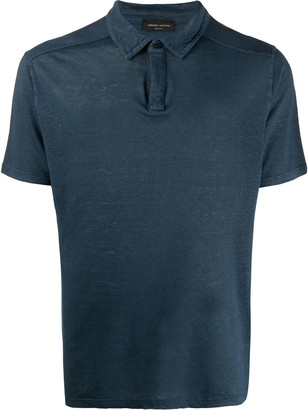 Roberto Collina Burn-Out Polo Shirt