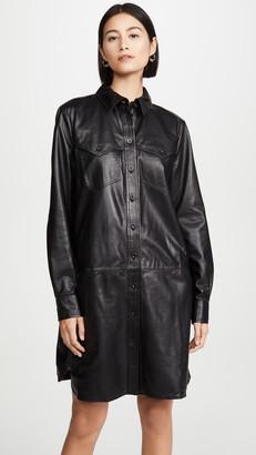 Anine Bing Ivy Leather Dress