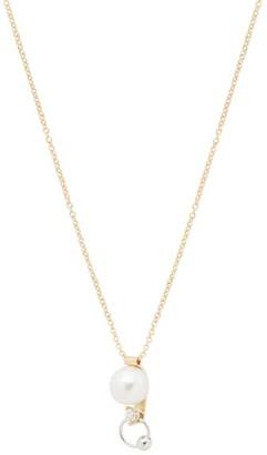 Delfina Delettrez Pearl, Diamond & 18kt Gold Piercing Necklace - Pearl