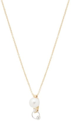 Delfina Delettrez Pearl, Diamond & 18kt Gold Piercing Necklace - Womens - Pearl