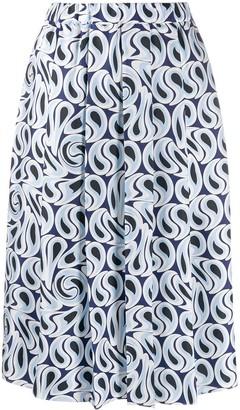 Marni Turbulent print skirt