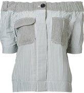 Sacai off-the-shoulder blouse - women - Cotton/Polyester - 2