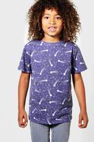 boohoo Boys All Over Print Star Tee black