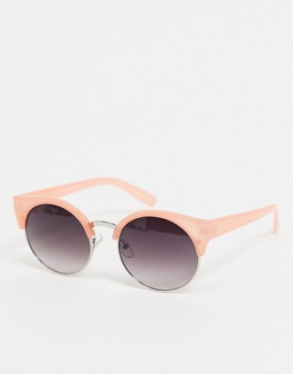 Jeepers Peepers round sunglasses with orange frame