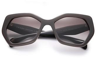 Prada Angular 56MM Pentagonal Sunglasses