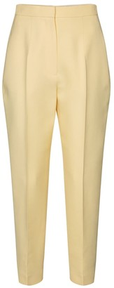 Alexander McQueen High-rise wool-blend slim pants