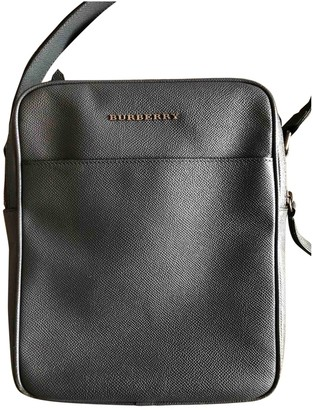 Burberry Anthracite Leather Bags