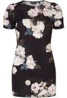 Dorothy Perkins Womens Black Floral Print Tunic- Black