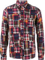 Sophnet. - patchwork flannel shirt - men - Cotton - S