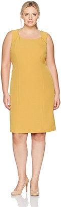 Kasper Women's Plus Size Crepe Cap Sleeve Dress