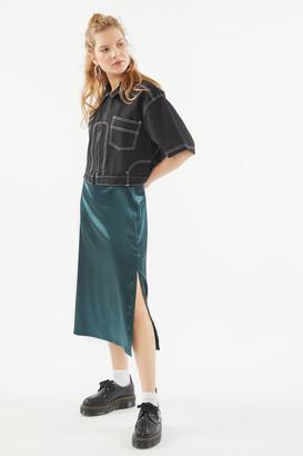Urban Renewal Vintage Remnants Pull-On Satin Midi Skirt
