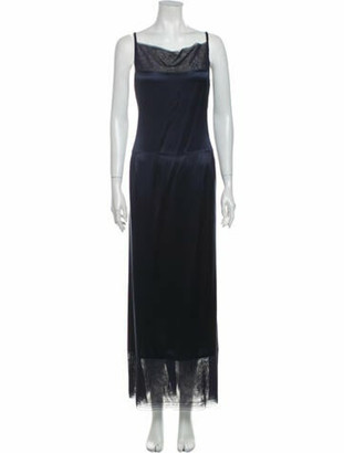 Chanel Silk Long Dress Blue
