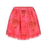 Miss Blumarine Miss BlumarineCerise Rose Print Silk Skirt