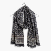 Madewell Abstract Floral Border Scarf