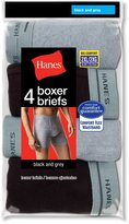 Red Label Hanes Men's TAGLESS 2XL Boxer Briefs w/Comfort Flex Waistband 4-PK, Size