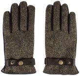 Gibson Brown Harris Tweed Leather Gloves