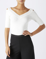 Monsoon Marianne Deep V Peep Shoulder Jumper