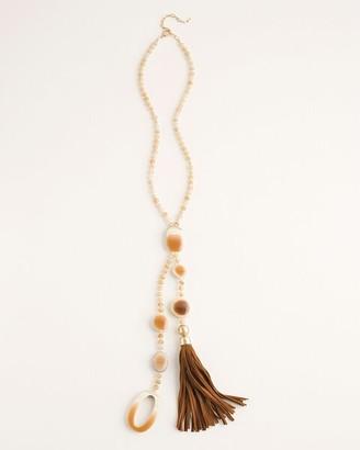 Chico's Neutral Y-Necklace