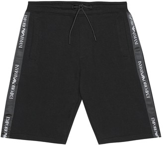 Emporio Armani Kids Logo cotton-blend shorts