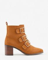 Le Château Faux Suede Almond Toe Ankle Boot
