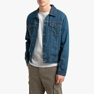 La Redoute Collections Straight Cut Denim Jacket with Pockets