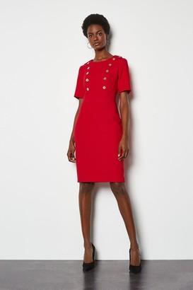 Karen Millen Military Day Dress