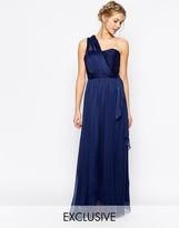 True Decadence Wrap One Shoulder Maxi Prom Dress
