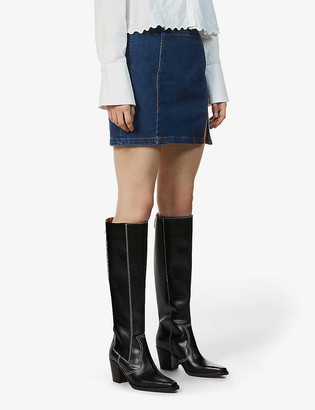 Free People Hold A Dream stretch-denim mini skirt