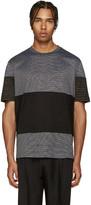 Lanvin Black Striped Mix T-Shirt