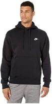 Nike NSW Club Hoodie Pullover (Black/Black/White) Men's Clothing