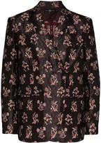 Thumbnail for your product : Edward Crutchley Floral-Jacquard Blazer