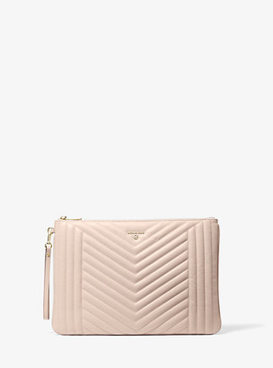 Michael Kors Jet Set Extra-Large Quilted Leather Pouch
