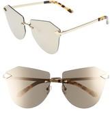 Karen Walker Women's Dancer 58Mm Rimless Mirrored Lens Sunglasses - Crazy Tortoise/ Gold/ Mirror