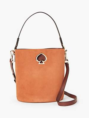 Kate Spade Suzy Suede Leather Bucket Bag, Brown