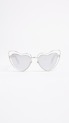 Saint Laurent Lou Lou Hearts Sunglasses