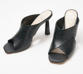 Vince Camuto Leather Architectural Heel Sandals - Averessa