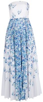 Cacharel long printed strapless dress